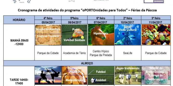 """Programa Municipal – """"OPORTOnidades Iguais para Todos"""""""